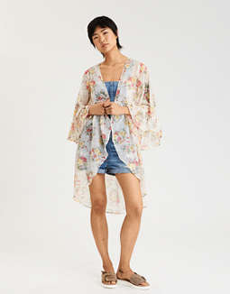 Ae Button Front Kimono by American Eagle Outfitters
