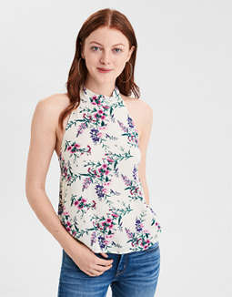 Ae High Neck Halter Top by American Eagle Outfitters