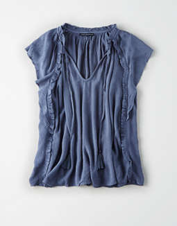Ae Ruffle Shell Top by American Eagle Outfitters 014c3db73