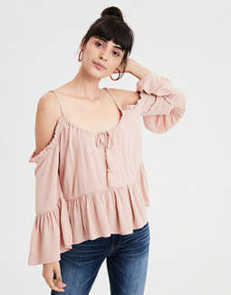 Ae Cold Shoulder Tunic Top by American Eagle Outfitters