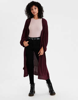 Ae Solid Kimono by American Eagle Outfitters