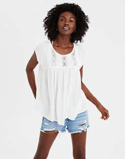 Ae Lace Inset Shell Top by American Eagle Outfitters