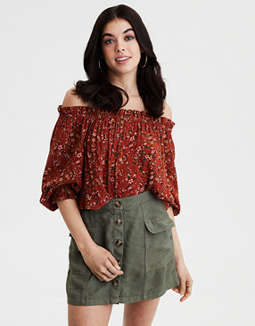 AE Off-The-Shoulder Blouse