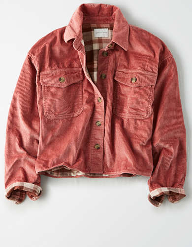 AE Lined Corduroy Shirt Jacket