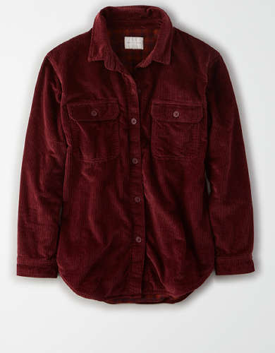 AE Fleece Lined Corduroy Button Up Shirt