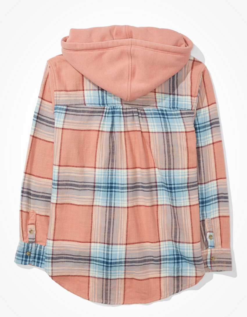 AE Cozy Cabin Oversized Hoodie Flannel