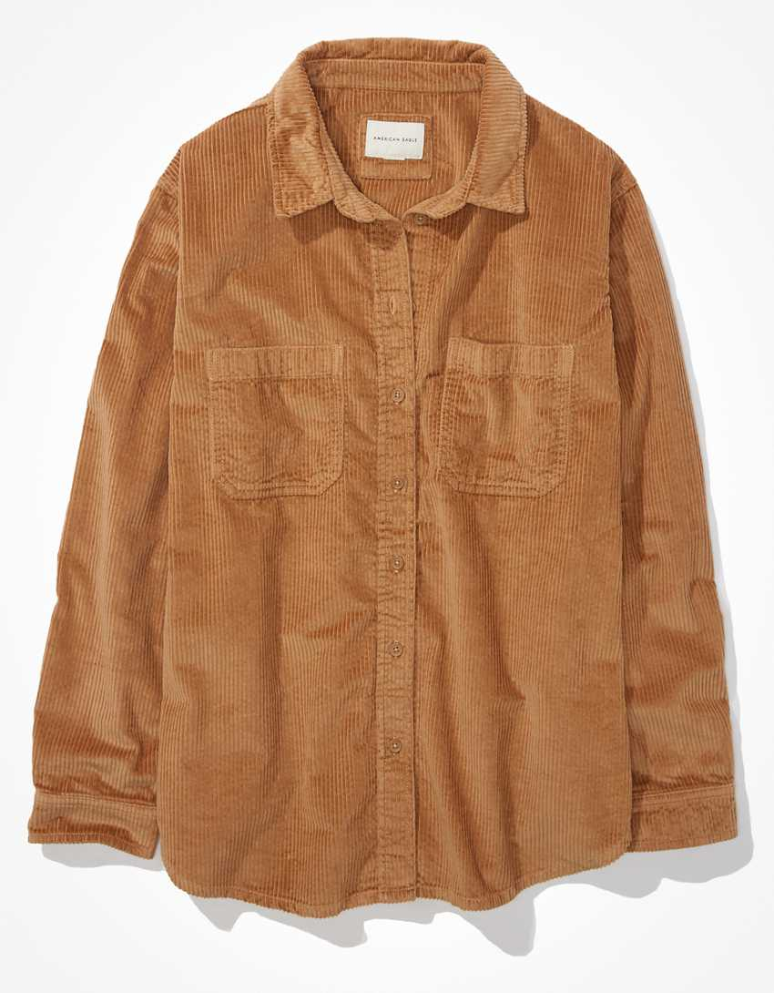 AE Oversized Corduroy Button-Up Shirt