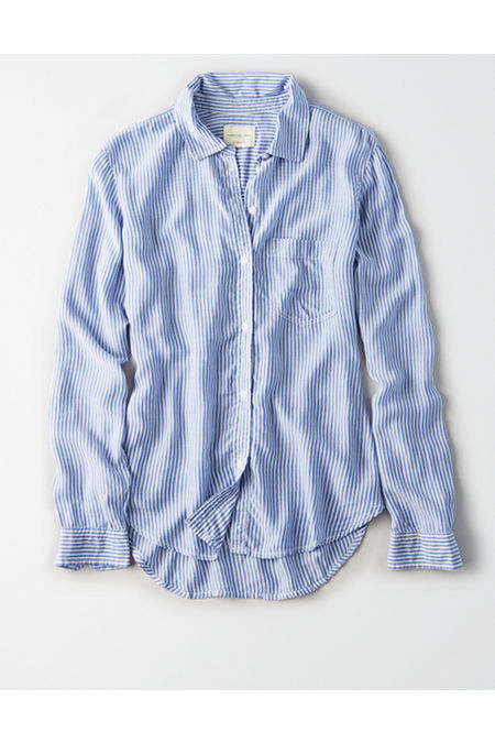 AE Classic Striped Button Up Shirt