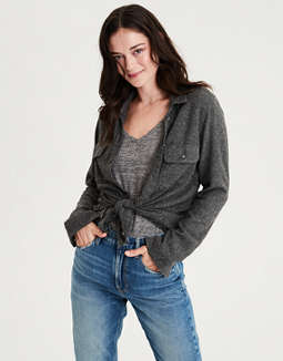 Ae Ahhmazingly Soft Shirt Jacket by American Eagle Outfitters