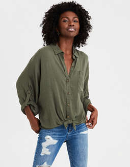 AE Ahhmazingly Soft Button-Down Shirt