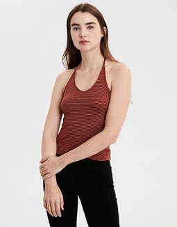 AE Snit Tie Back Halter Top