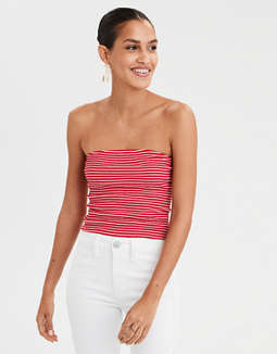 AEO Striped Smocked Tube Top