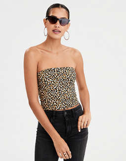 AEO Leopard Print Tube Top