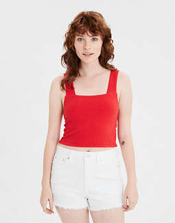 AE Square Neck Cropped Tank Top