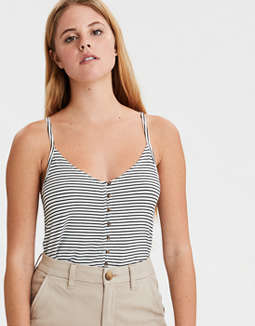AE Soft & Sexy Button Front Tank Top