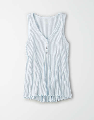AE Soft Plush Henley Tank Top