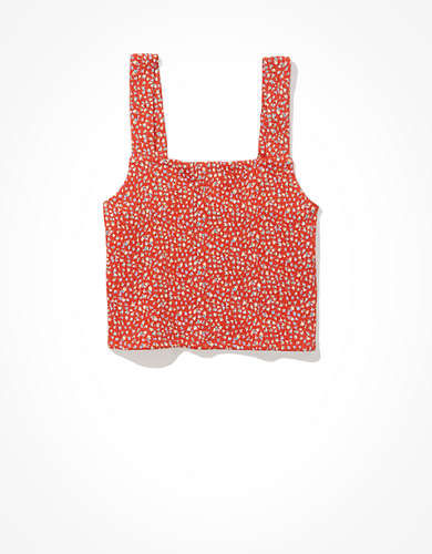 AE Cropped Square-Neck Tank Top