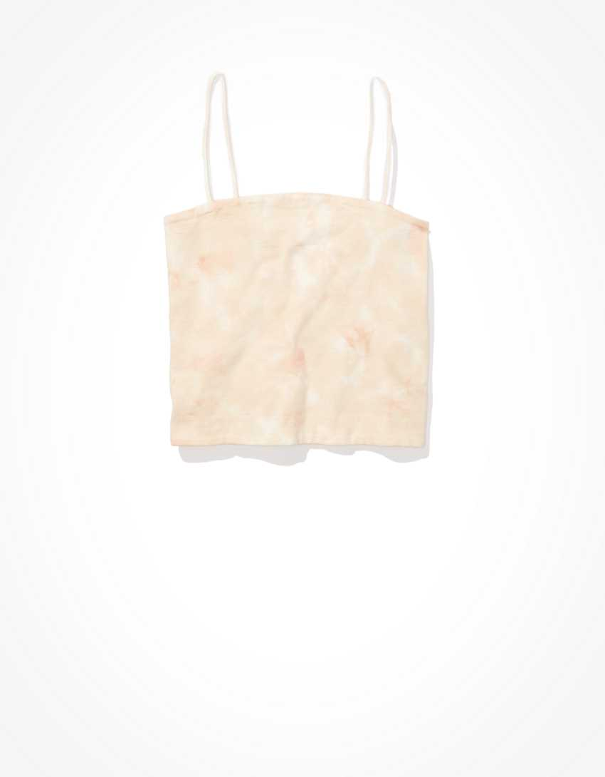 AE Tie-Dye Bungee-Strap Crop Cami