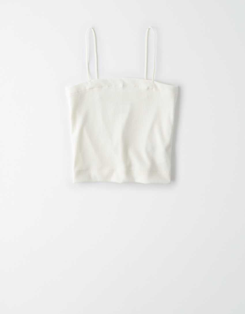 .98 AE Bungee-Strap Crop Cami + Free shipping over  at American Eagle!