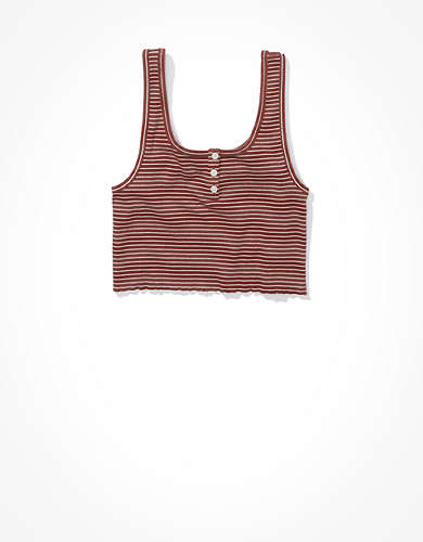 AE Henley Crop Tank Top