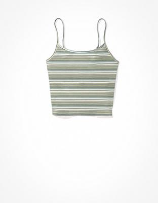 AE Striped Crop Cami