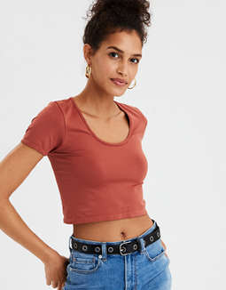 Ae Seamless Cropped T Shirt by American Eagle Outfitters