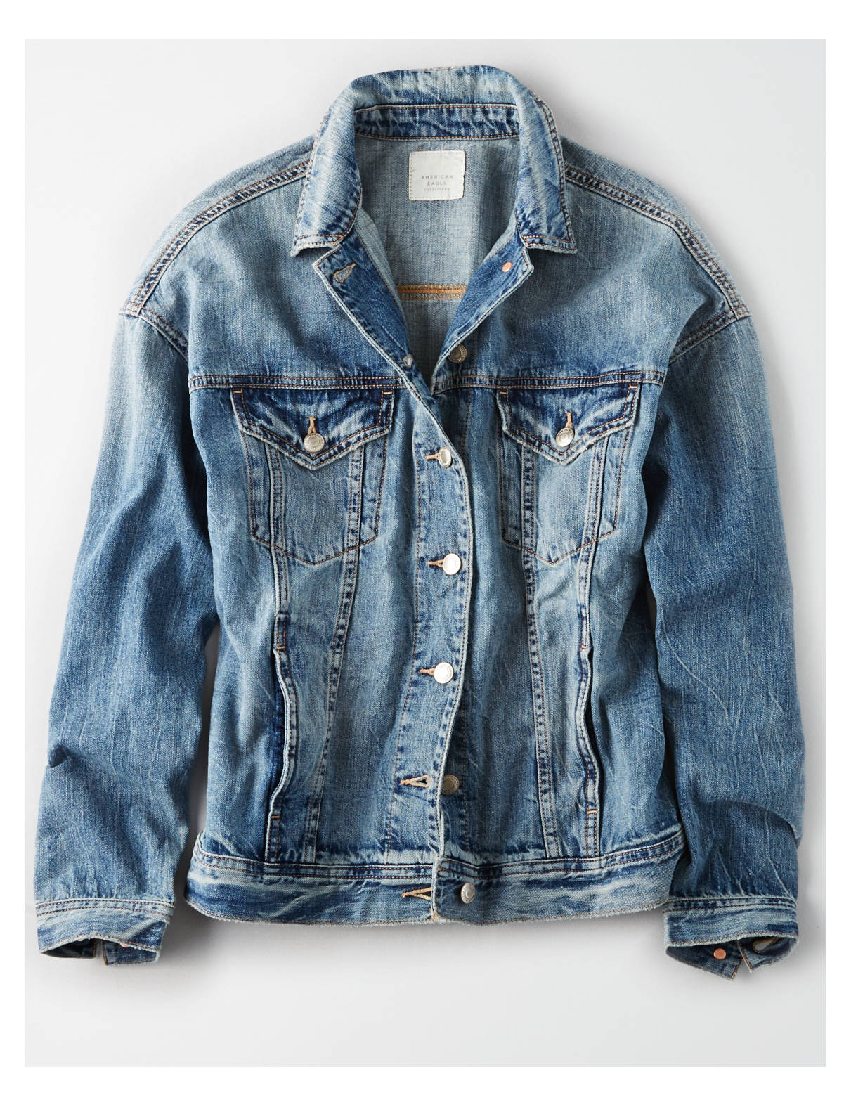 Display product reviews for AE BOYFRIEND FIT DENIM JACKET