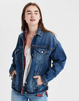 AE Boyfriend Fit Denim Jacket