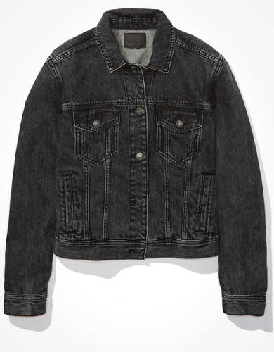 AE Classic Black Denim Jacket