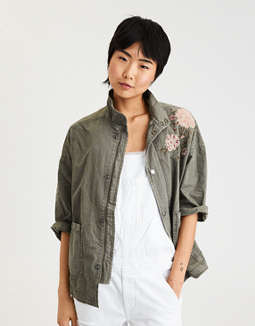 Ae Boxy Ripstop Jacket by American Eagle Outfitters