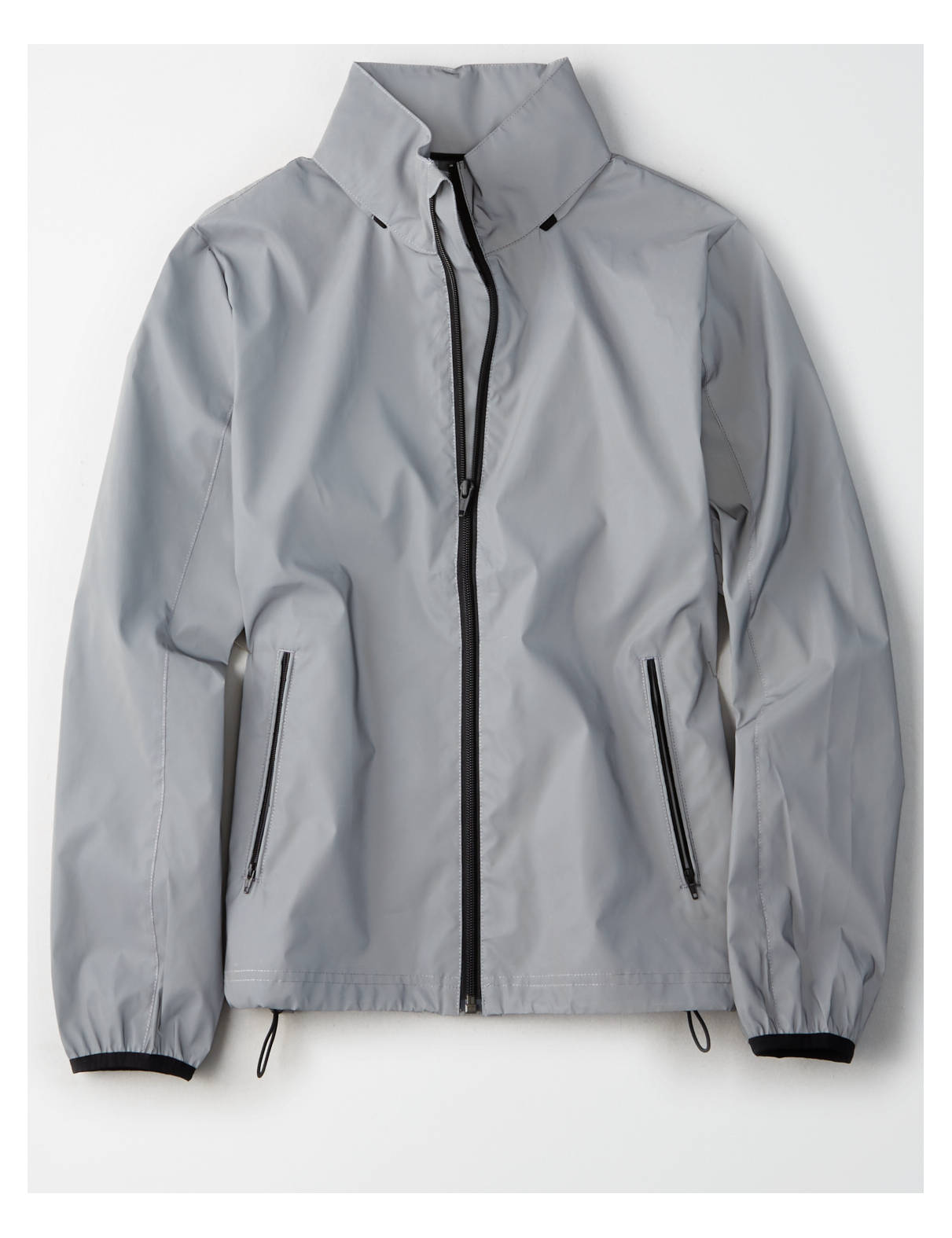 Display product reviews for AE Reflective Metallic Windbreaker