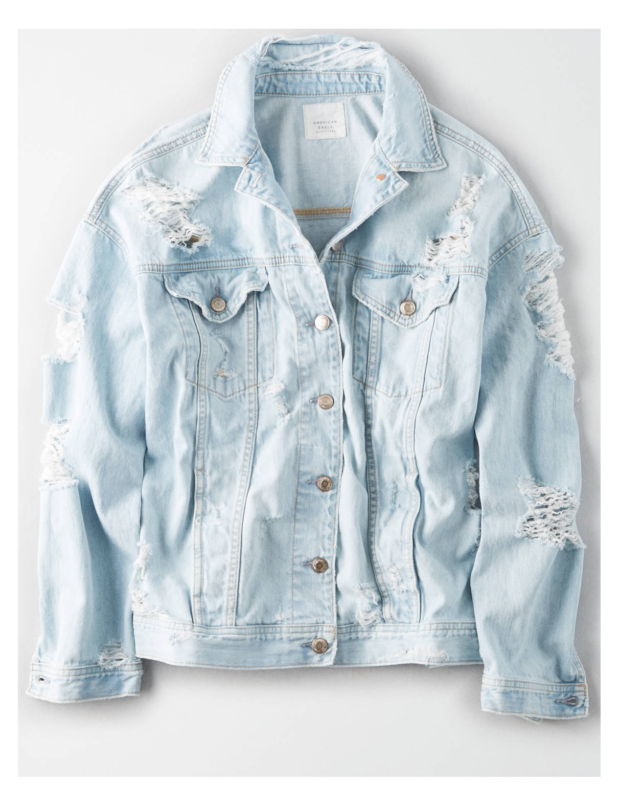 Display product reviews for AE Destroy Denim Boyfriend Jacket