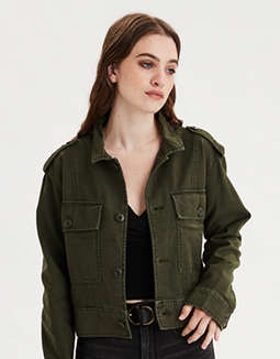 AE Cropped Military Jacket