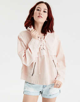 AE Lace Up Popover Jacket