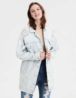 AE Elongated Boyfriend Denim Jacket