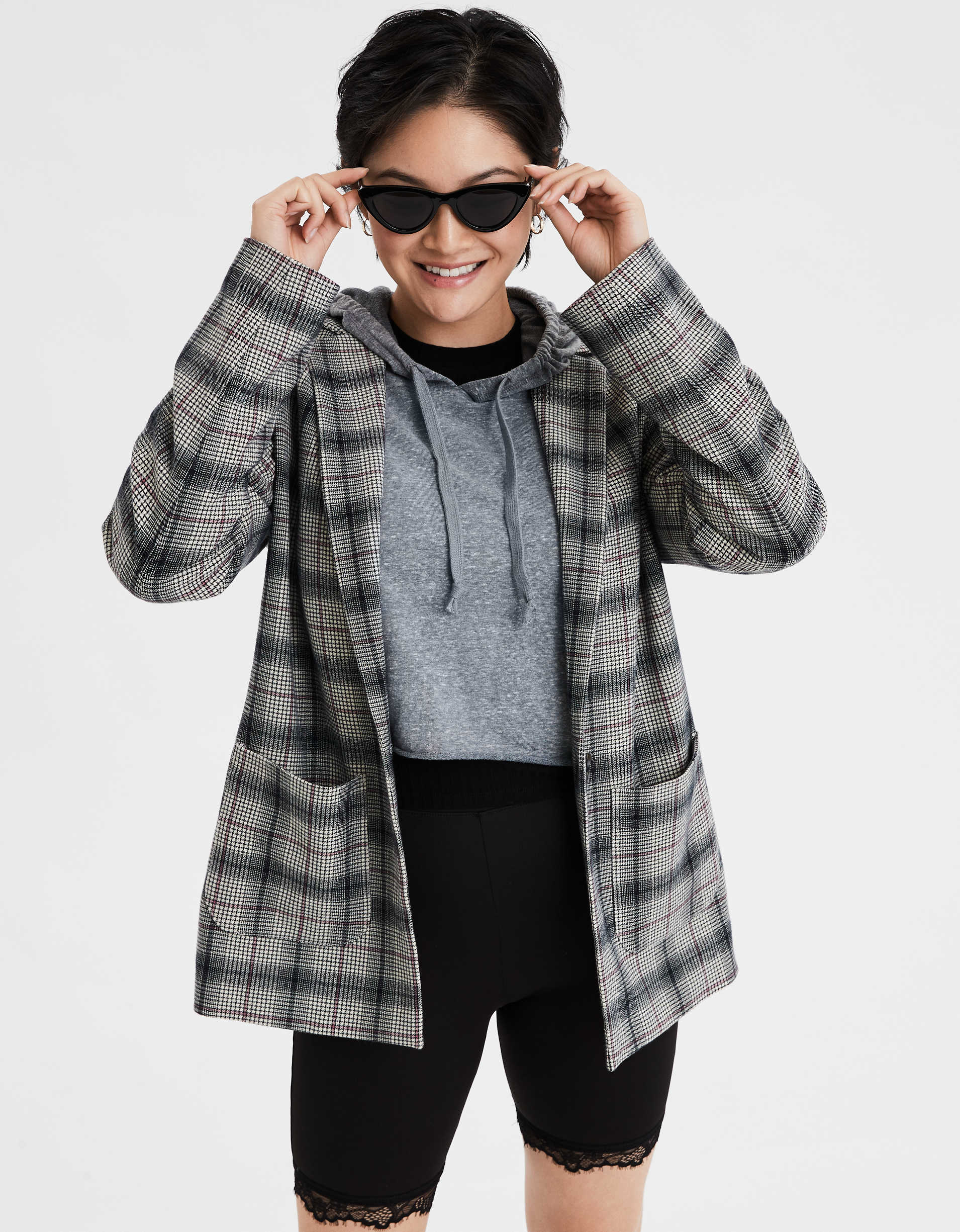 AE Plaid Blazer