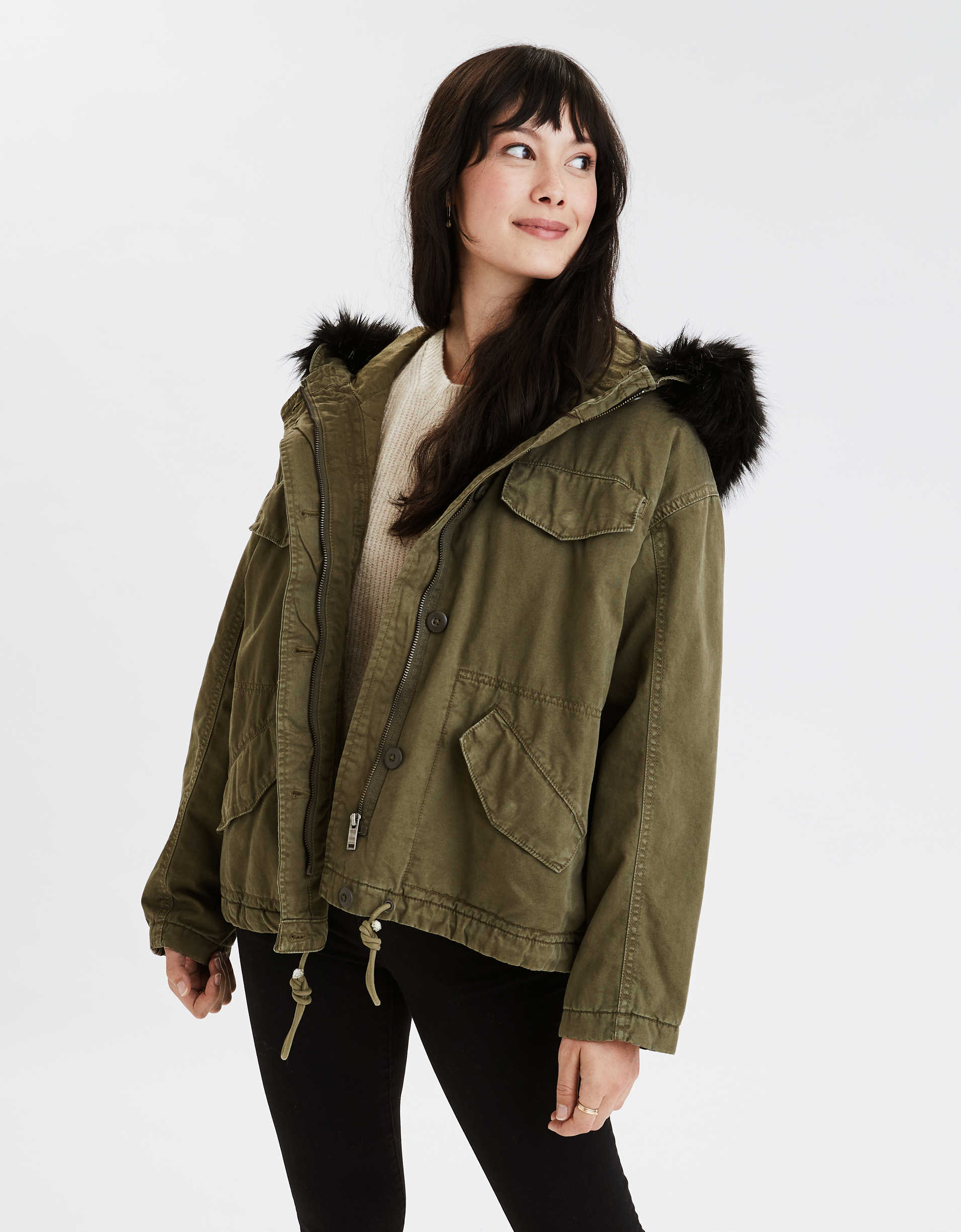 AE Faux Fur Lined Parka