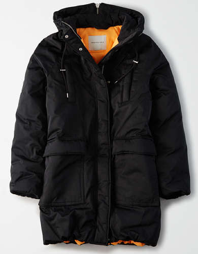 AE Long Puffer Jacket