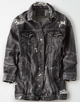 AE Elongated Destroyed Denim Jacket