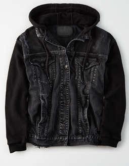 d2846166 placeholder image AE Fleece Sleeve Denim Jacket ...