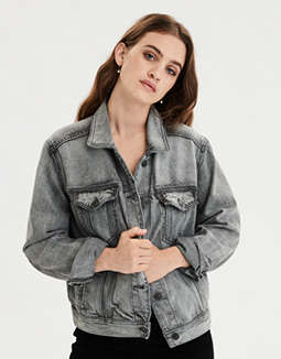 AE Gray Denim Jacket