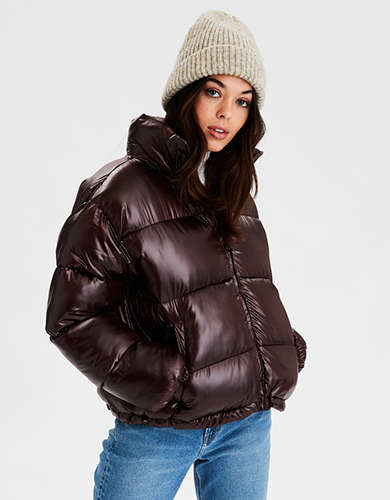 AE Shiny Puffer Jacket