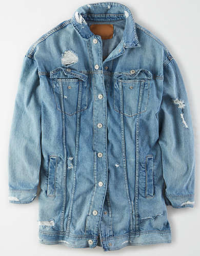 AE Long Boyfriend Denim Jacket