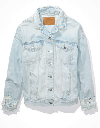 AE Lightwash Denim Boyfriend Jacket