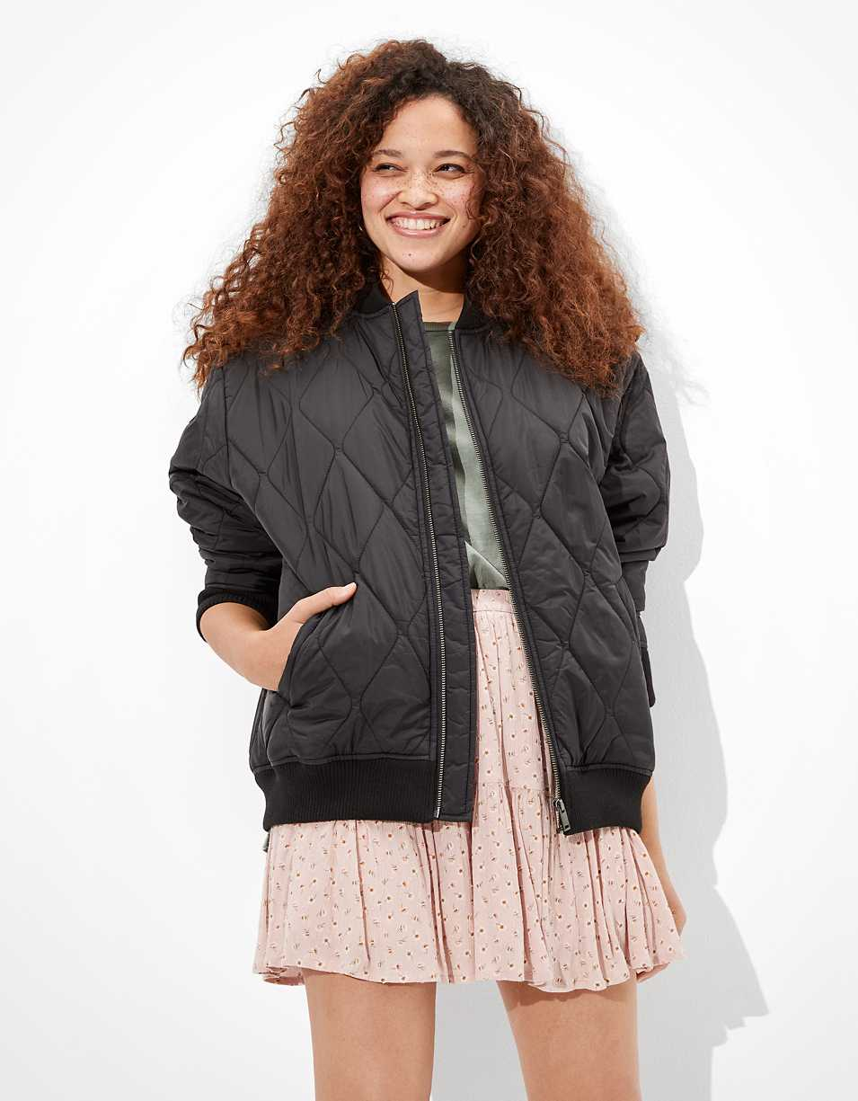 AE Quilted Bomber Jacket