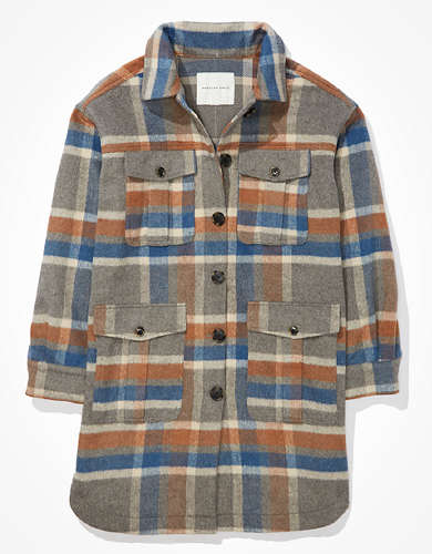 AE Plaid Flannel Coat