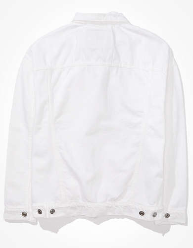 AE White Boyfriend Denim Jacket
