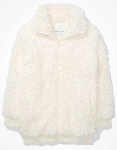 AE Fuzzy Sherpa Zip Up Jacket