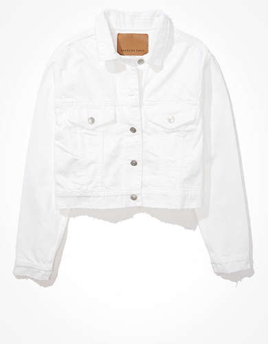 AE Classic White Denim Jacket