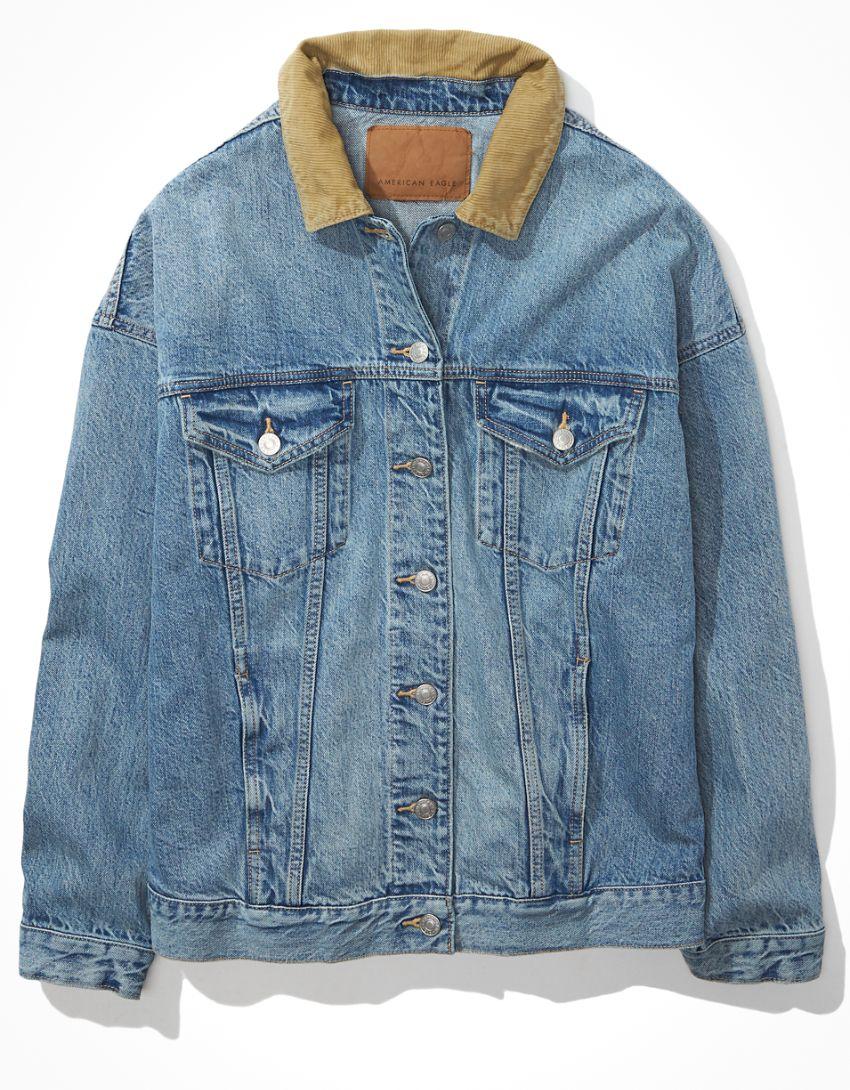 AE Corduroy Boyfriend Denim Jacket